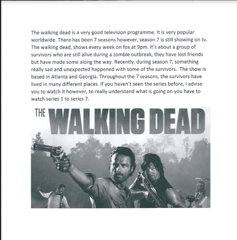 The Walking Dead - PALM -interactive platform for language ...